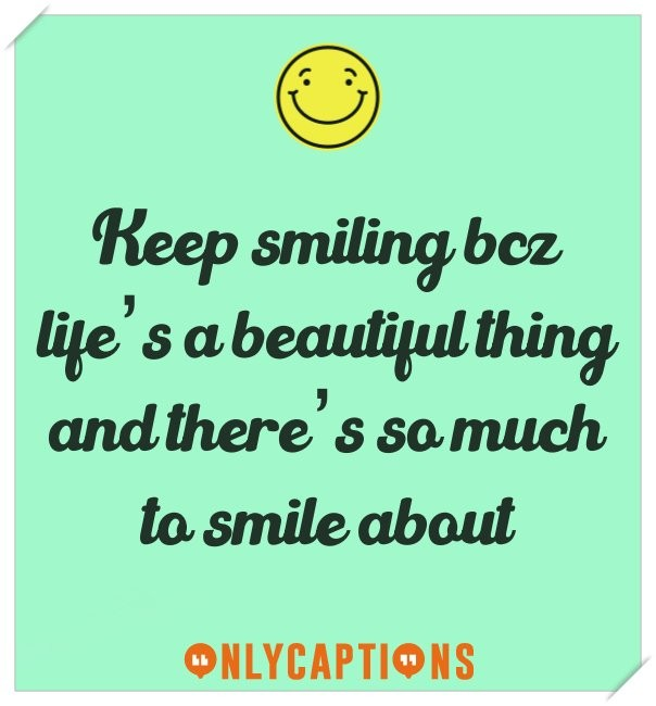 Best cute Instagram captions on smile (happiness)