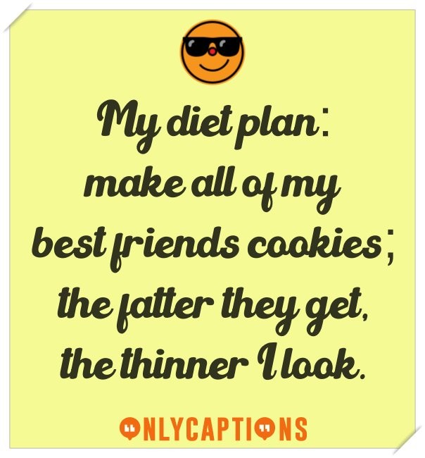 Good captions for Instagram on cookies (diet)